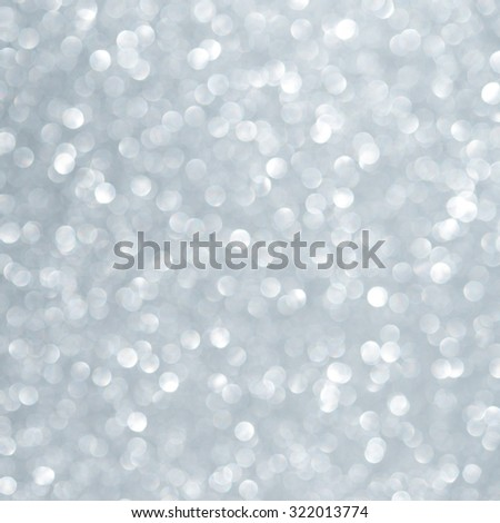 Unfocused abstract light blue glitter holiday background. Winter xmas holidays. Christmas. - stock photo