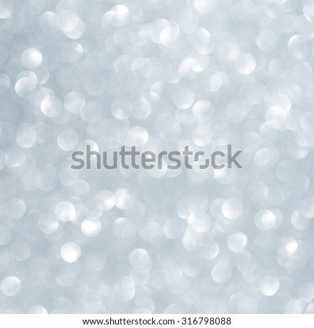 Unfocused abstract light blue glitter holiday background. Winter xmas theme. Christmas. - stock photo