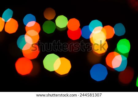 unfocused light bokeh