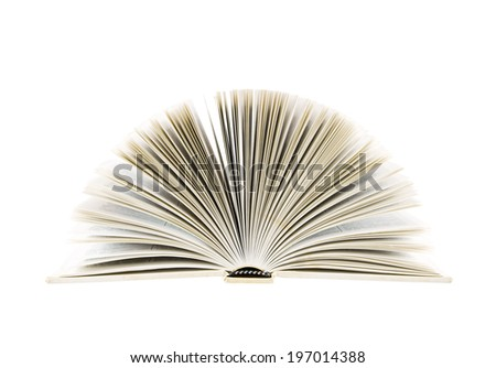 Unfolded book on a white background.