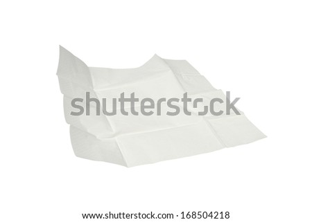 unfolded paper tissue isolated on white background - stock photo