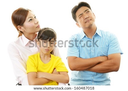 Unhappy family - stock photo