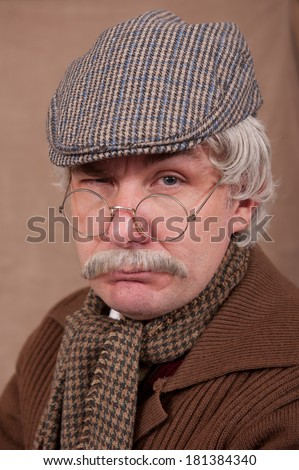 Unhappy Grey Haired Old Man