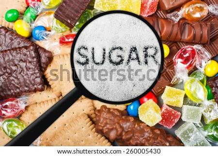 Unhealthy food concept - sugar - stock photo