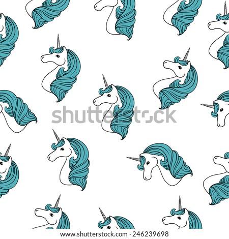 Unicorn raster  - stock photo