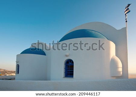 Unidentified church in Fira, Santorinj, Greece