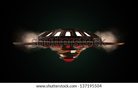 unidentified object flying - stock photo