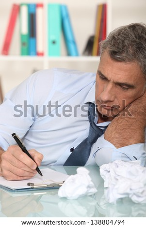 Uninspired writer - stock photo