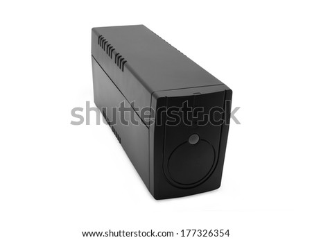 uninterruptible power supply system on a white background isolated