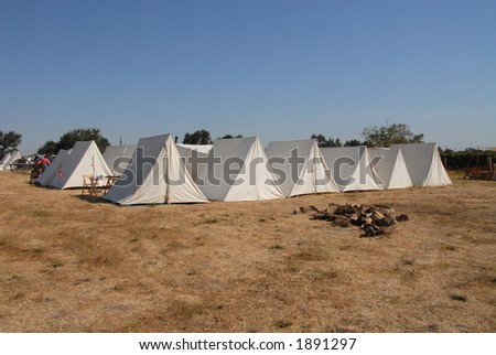 Union camp, Civil War reenactment, Clements, California - stock photo