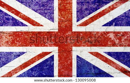 Union Flag distressed; British/United Kingdom flag - stock photo