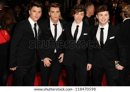 Union J arriving for the Royal World Premiere of 'Skyfall' at Royal Albert Hall, London. 23/10/2012 - stock photo