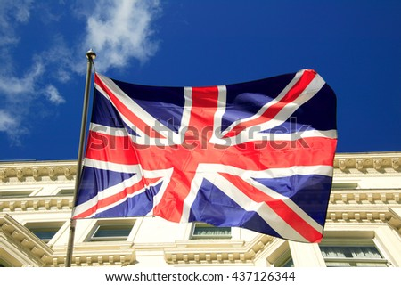 Union Jack flag of the United Kingdom