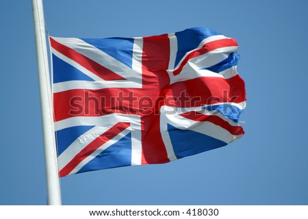 Union Jack flag of United Kingdom - stock photo