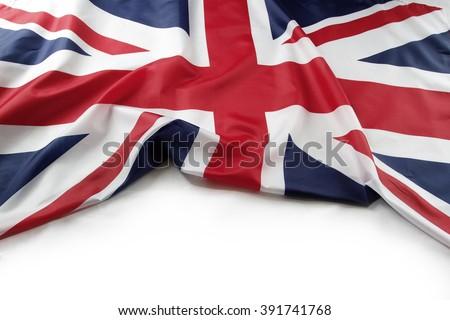 Union Jack flag on plain background - stock photo