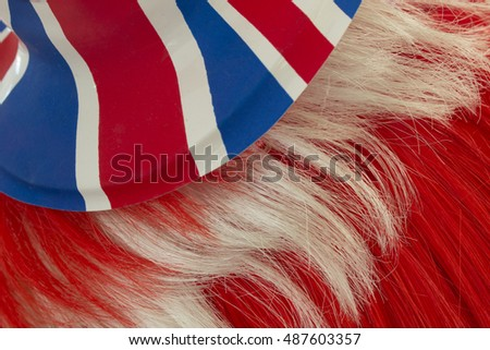 Union jack hat and red hair