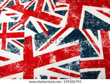 Union Jack montage Background - stock photo