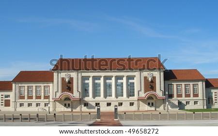 Union Pacific train station in Topeka, Kansas. - stock photo