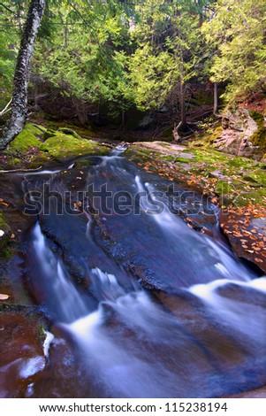 Union River Gorge Michigan - stock photo