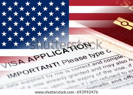Union States Visa Application Form Passport Stock Photo Royalty