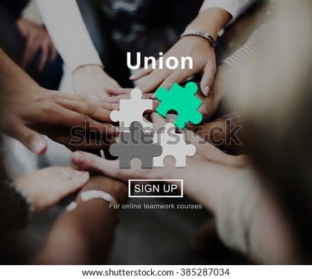 Union Unity Team Community United Concept - stock photo