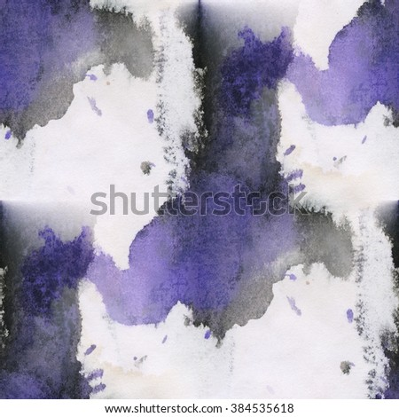 unique  abstract watercolor seamless blue black water color pattern brush painting watercolour background