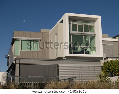 Unique and funky Modern Architecturally designed home - stock photo