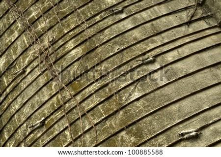 Unique barn silo view - stock photo
