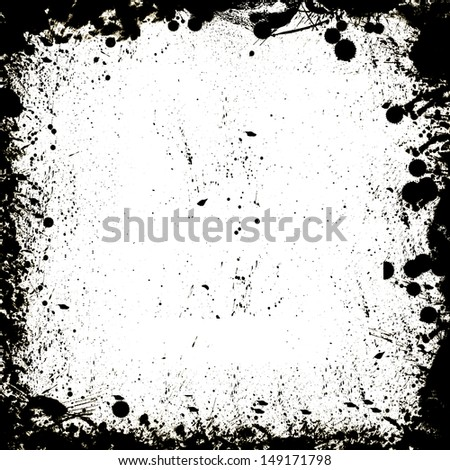 Unique Black and White border frame - stock photo