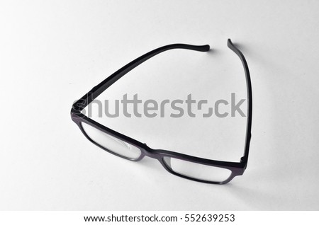Unique glasses with wood texture frame over  white background