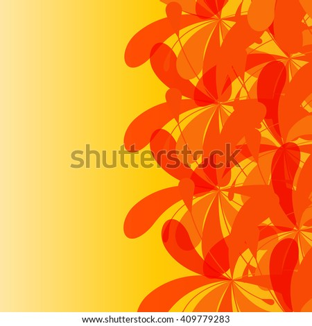 Unique hand drawn abstract floral background. Pattern. Abstract decorative pattern