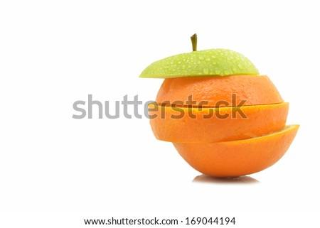 unique orange slice  - stock photo