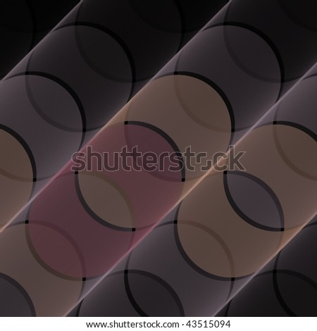 Unique peach, pink and gray abstract wavy fractal design on black background