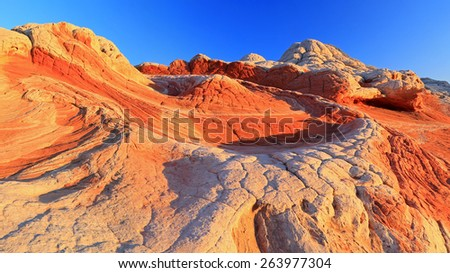 Unique rock formations, Arizona, USA. - stock photo