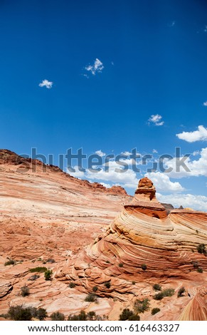 Unique sandstone formations on the border of Arizona and Utah in the United States