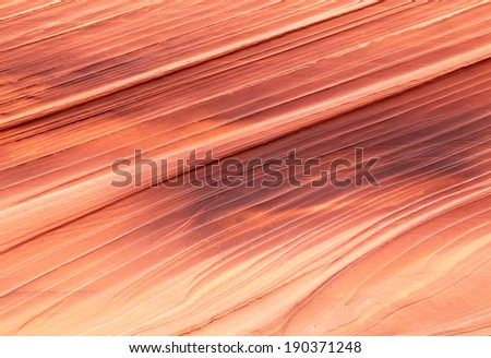 Unique sandstone texture background from the Utah desert, USA. - stock photo