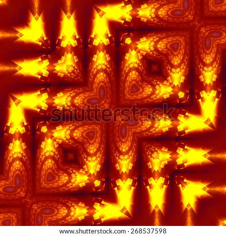 Unique Weird Fractal Distortions. Abstract Geometric Background Pattern. Creative Optical Effect. Digital Art Illustration Design. Glowing Light. Artistic Psychedelic Structure. Contemporary Artwork. - stock photo