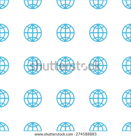 Unique World white and blue seamless pattern for web design