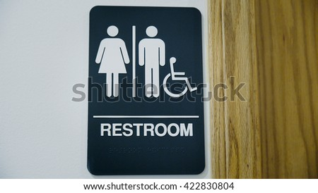 Unisex Public Restroom Sign with braille