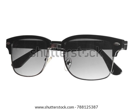 Unisex sunglasses isolated on white background.