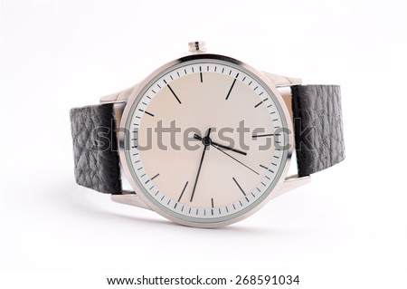 Unisex watches on a white background - stock photo