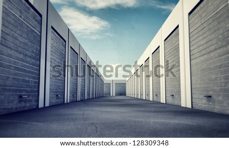 unit storage - stock photo