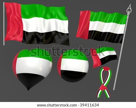 United Arab Emirates,    Abu Dhabi flag national symbolic