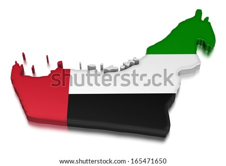 United Arab Emirates (clipping path included) - stock photo