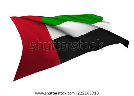 United Arab Emirates flag - collection no_5  - stock photo