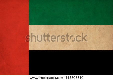 United Arab Emirates flag drawing ,grunge and retro flag series - stock photo