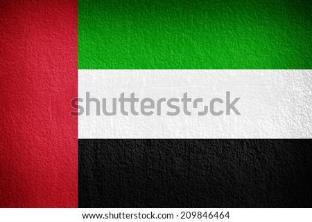 United Arab Emirates Flag painted on grunge wall  - stock photo