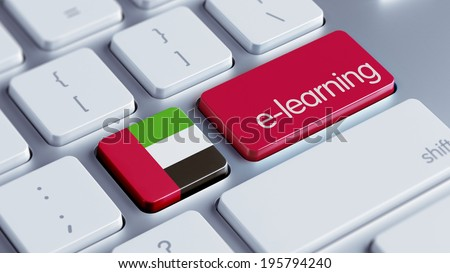 United Arab Emirates  High Resolution E-Learning Concept - stock photo