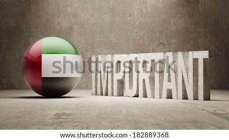 United Arab Emirates High Resolution Important  Concept - stock photo