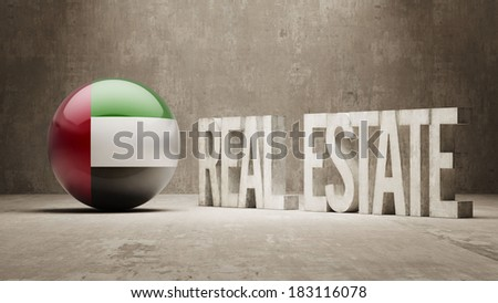 United Arab Emirates High Resolution Real Estate Concept - stock photo